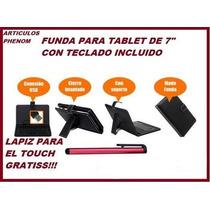 Env/grtis Funda Para Tablet 7 Pulgadas Teclado Usb Incluido