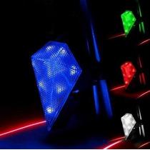 Luz Trasera Recargable Para Bicicleta 9 Leds + Carril Laser