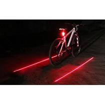 Luz Trasera Con Laser Laterales, Para Bicicleta