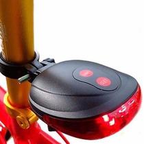 Luz Trasera Bicicleta Led, Lampara Laser Indicador De Carril