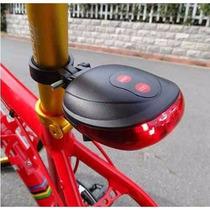 Luz Trasera Para Bicicleta Con Luz Led Y Laser