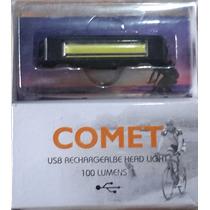Comet - Luz Led Roja Para Bicicleta, Recargable Usb