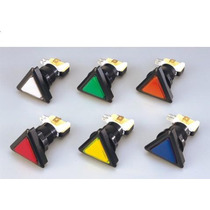 Botón Luminoso Triangular Con Micro Zippy Para Rokolas