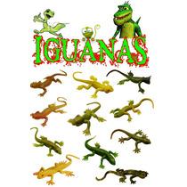 Juguete Miniatura Para Maquina Chiclera, Iguana. 50 Piezas.