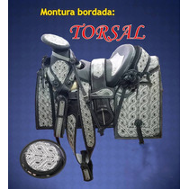 Silla De Montar Bordada Con Accesorios Montura