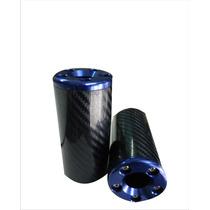 Sliders Delantero Imitacion Carbono Anodizados Color Azul