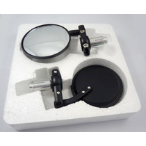Espejos Retrovisores Moto- Compacto Negro