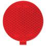 Paquete Con 50 Etiquetas Redondas Reflexivas Color Rojo 3pul