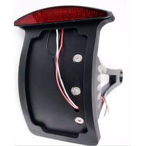 Portaplacas Lateral Curvo Negro Con Stop Para Moto