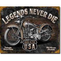 Poster Anuncio Litografia Lamina Harley Las Leyendas Nunca M