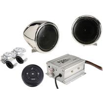 Amplificador Para Moto Con Potentes Bocinas 600w Estereo Css