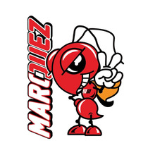 Sticker Marc Marquez 93 Campeon 2013 Moto Gp Honda Hrc