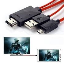 Teléfono De Tv Por Cable, Mopo 6.5 Pies Micro Usb (mhl) A Ma