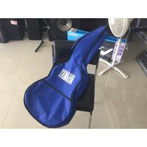 Buenísima Funda Reforzada Para Guitarra Acústica Azul