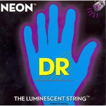 Cuerdas Neon Azules Dr Strings Bajo 4 Nrb45 45-105