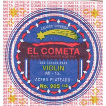 Cuerda 1a El Cometa Para Violín, 12 Piezas Acero .010 905