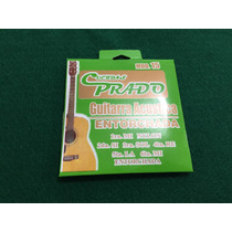 Cuerdas Para Guitarra Acústica Entorchadas Negras