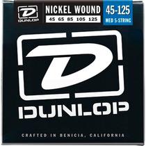 Encordado Dunlop Bajo Eléc. 5 Cdas Medium 45-125 Dbn45125