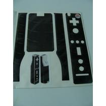 2 Skin Negro Para Controles De Nintendo Wii (calcomanias)