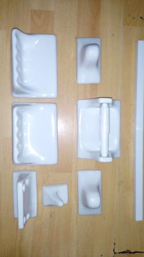 Accesorios para ba o porcelana blanca en for Accesorios bano porcelana