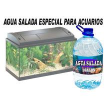 Agua Salada Para Acuarios Y Fauna Marina Exotica En 1 Galon.