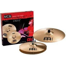 Set Platillo Meinl Mcs Hihat 14 Crash Ride 18
