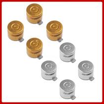 Botones Tipo Bala Oro Y Plata Metalicos Control De Ps3 Ps4