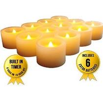 Flameles Candlesled Pilas Velas Función De Temporización ~ M