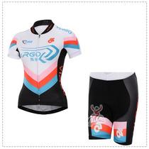 Uniforme Ciclismo Virgo Negro 2015 Mujer Jersey + Short
