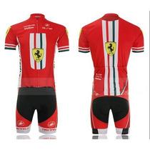 Uniforme De Ciclismo Ferrari Jersey + Short Bib