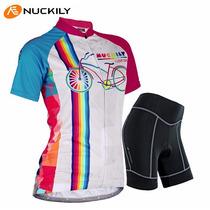 Uniforme Ciclismo Nuckily 2015, Mujer, Jersey + Short, Bici