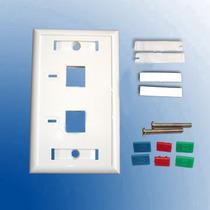 Bolsa De 10 Placas Frontales/2 Ventanas/ 2 Etiquetas De Colo
