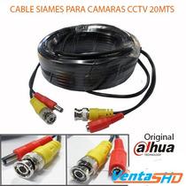 Cable Siames Camaras Cctv Original Dahua 20mts,saxxon,dvr.