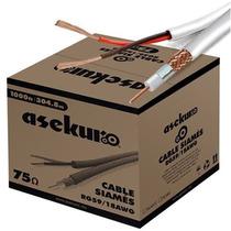 Cable Siamés Blanco 305mts Conductor Central De Cobre Hm4