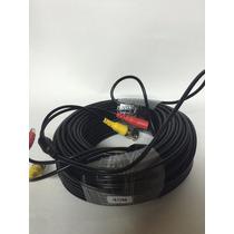 Cable Siames Coaxial 40metro Para Camara Cctv Video Voltaje