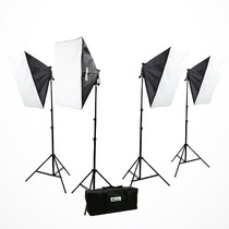 Kit De Iluminacion Softbox Cajas De Luz Fotografia Video Vbf