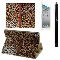 Funda Ipad Mini Leopardo Piel Mica + Stylus Lfb