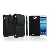 Hsini Negro Estuche Durable Para Samsung Galaxy Note N7100 I