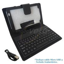 Funda Piel Con Teclado Bluetooth Para Galaxy P1000 De 7