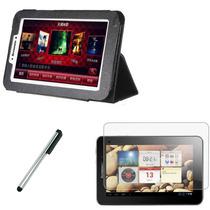 Funda Stand Tablet Lenovo Ideatab A2107 A2207 + Mica + Pluma