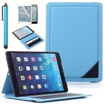 Ipad Air 5 Funda Piel Giratoria Y Funcion Sleep +accesorios