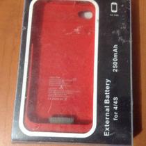 Funda Bateria Externa Cargador Iphone 4 / 4s Pila 2500mah
