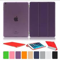Smart Cover Case Ipad Air 2 + Mica Y Stylus Varios Colores