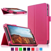 Verizon Elipsis 8, Infiland Folio Pu Slim Fit Funda Magenta