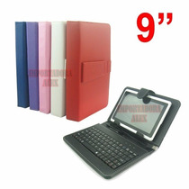Funda Con Teclado Usb Tablet 9 Pulgadas Stylus Galaxy Colore