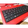 Funda Teclado De 7 Pulgadas Tablet Color Rojo+funda Gel 2x1