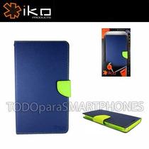 Funda Iko Samsung Note 3 Wallet Azul/verde Envio Gratis