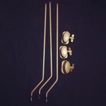 Set De Patas Para Tom De Piso Con Bracket Color Dorado Mate