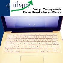 Macbook Air White Pro 13 15 17 Cubre Teclado Español Blanco