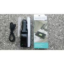 Transmisor Bluethoth Usb Fm Cargador Manos Libres Mp3 Carro